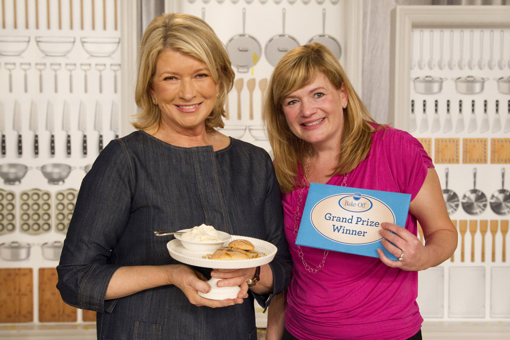 With Martha Stewart at the 45th Pillsbury Bake Off Contest.