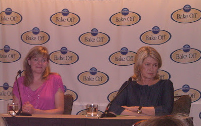 At the press conference with Martha Stewart following the 45th Pillsbury Bake-Off Contest.
