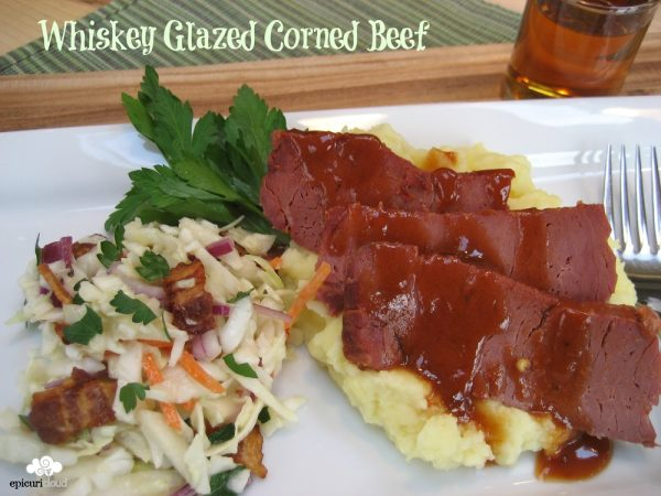 Whiskey Glazed Corned Beef: 2 meals in 1
