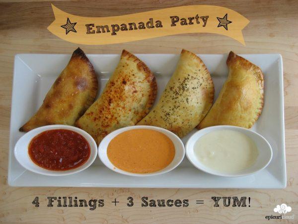 Empanada Party: 4 Fillings + 3 Sauces = YUM!