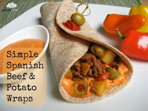 Simple Spanish Beef & Potato Wraps