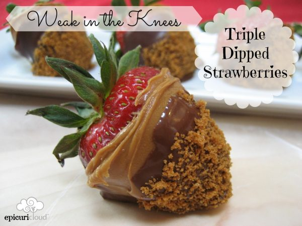 Weak in the Knees Triple Dipped Strawberries