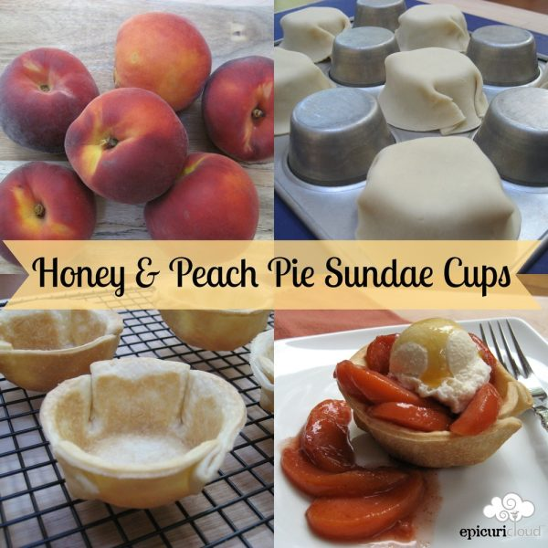 Bee 101: Honey & Peach Pie Sundae Cups