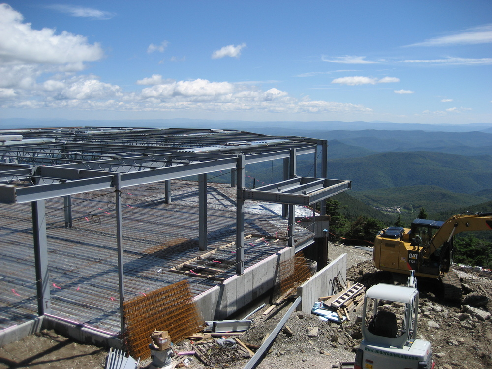 The new Peak Lodge is under construction - what a view you will have from here!
