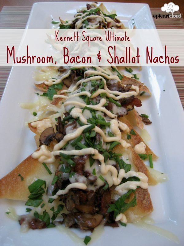 Mushroom, Bacon and Shallot Nachos