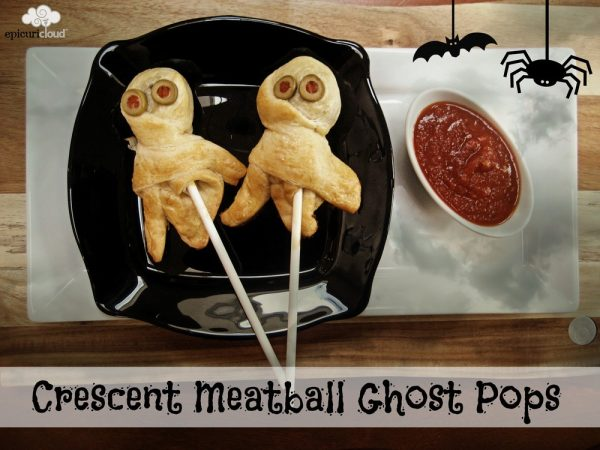 Crescent Meatball Ghost Pops: Easy Halloween Dinner
