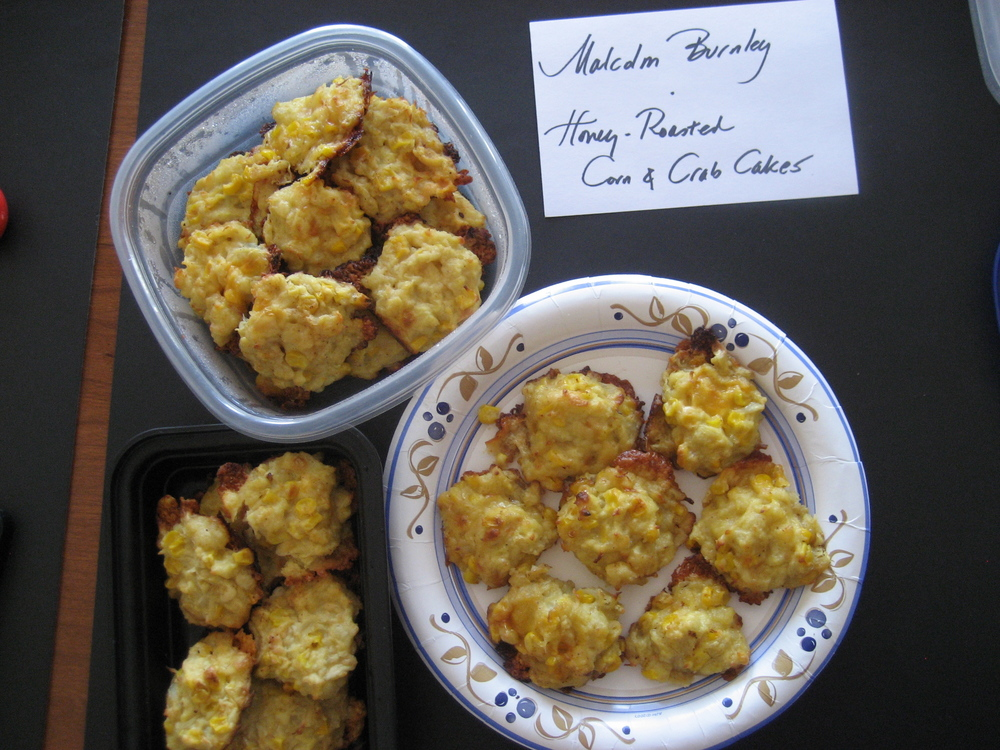 Research Editor, Malcolm Burnley, discovered a great recipe in Mindy Beaumont's   Honey Roasted Corn and Crab Puffs  .  One bite of the sweet corn and crab in these little nuggets transported me right to my summertime happy place.  I could practically feel the sand on my feet!