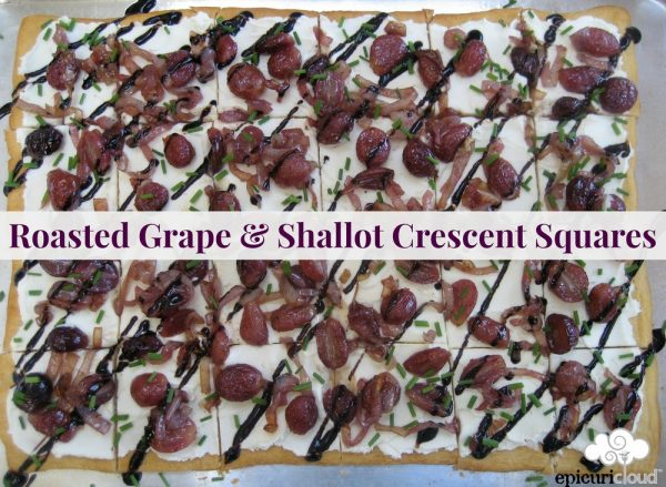 Roasted Grape & Shallot Crescent Squares