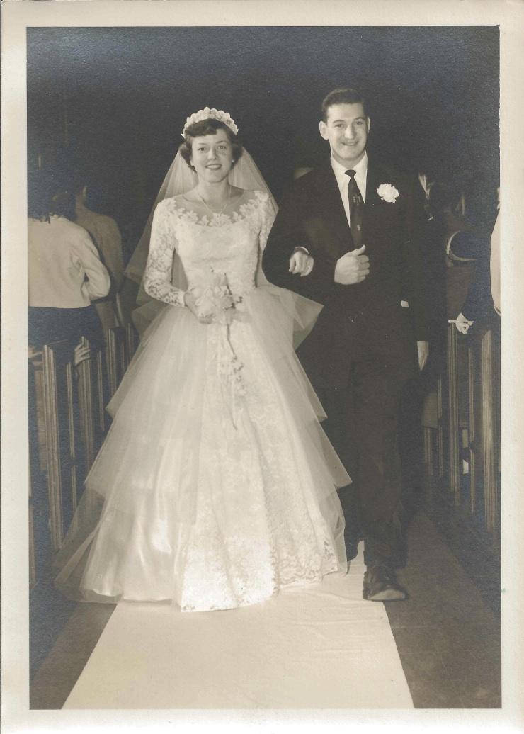 Patricia Jonas marries Paul Hillen, 1953.