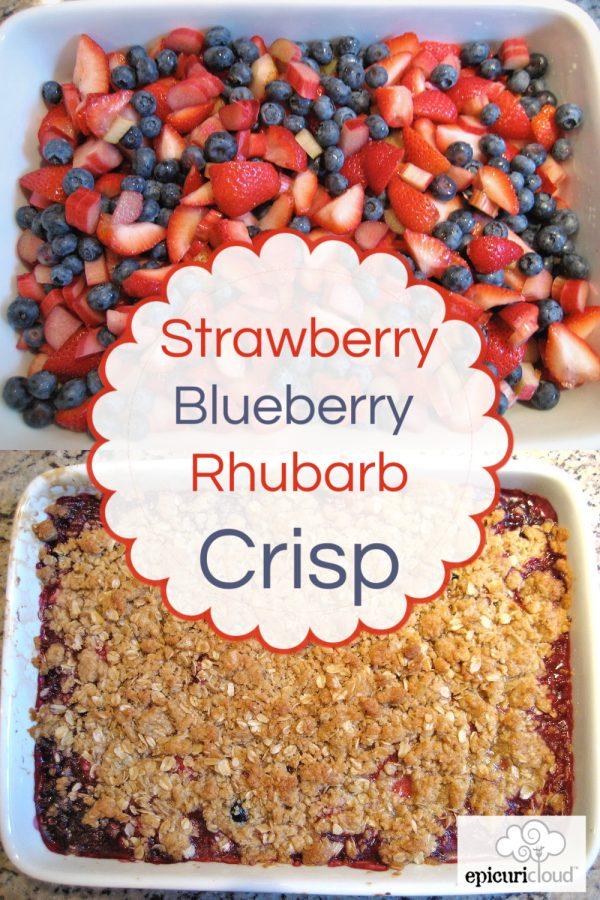 Strawberry, Blueberry, Rhubarb Crisp