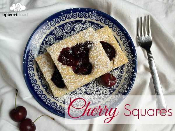 Cherry Squares & Mascarpone Whipped Cream