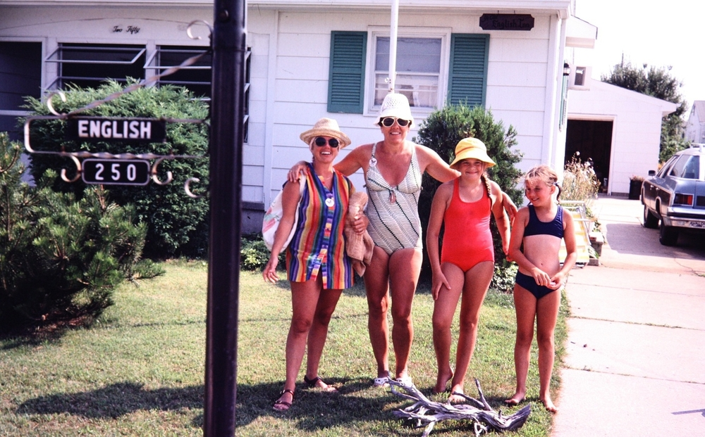 Joanne English, my Mom, Me & Kryn circa 1970-something? at the Jersey Shore.