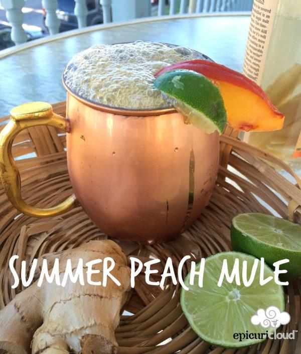 Summer Peach Mule Cocktail