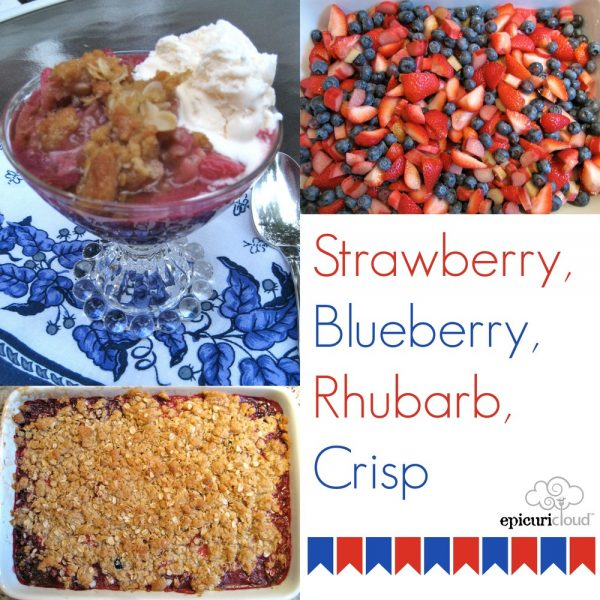 Strawberry, Blueberry, Rhubarb Crisp