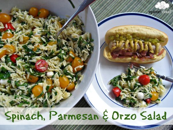 Spinach, Parmesan and Orzo Salad