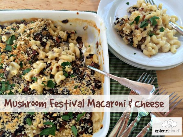 Macaroni and Cheese with Mushrooms, Bacon and Shallots