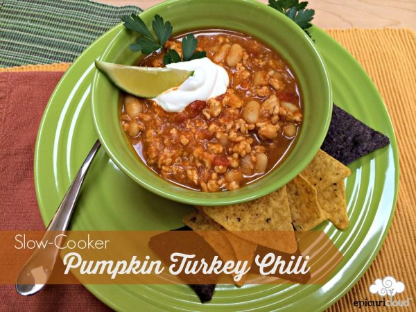 Slow-Cooker Pumpkin Turkey Chili