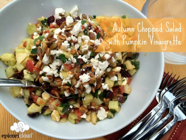 Autumn Chopped Salad with Pumpkin Vinaigrette