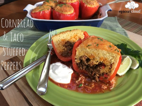 Cornbread and Taco Stuffed Peppers