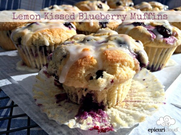 Lemon Kissed Blueberry Muffins