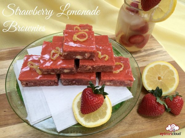Strawberry Lemonade Brownies