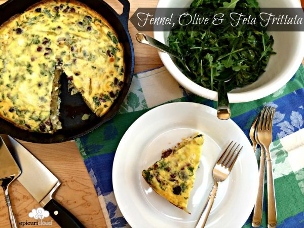 Fennel, Olive and Feta Frittata