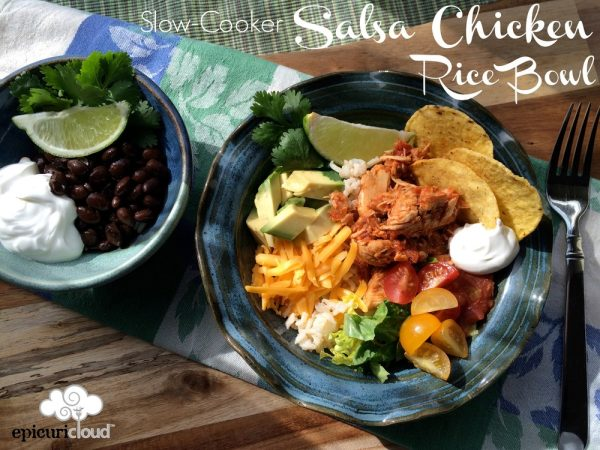 Slow-Cooker Salsa Chicken Rice Bowl