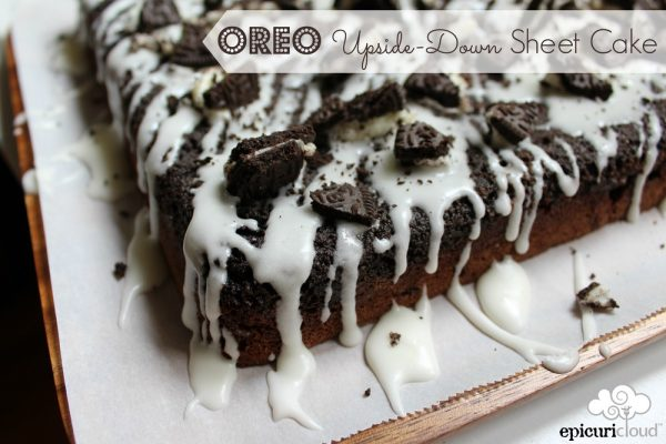 Oreo Upside-Down Sheet Cake