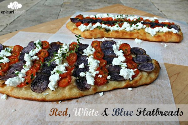 Red, White and Blue Flatbreads