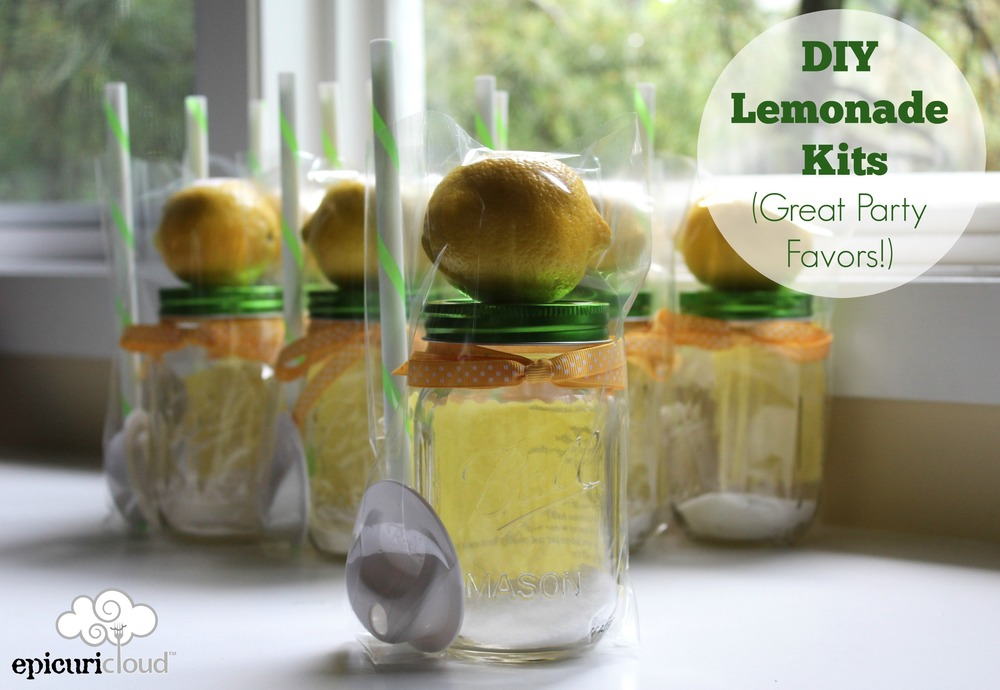 Diy Mason Jar Lemonade Kits Summer Party Favors Epicuricloud Tina Verrelli