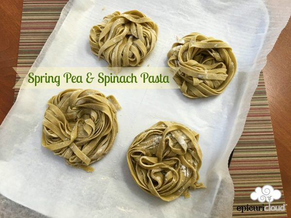 Spring Pea and Spinach Pasta Dough