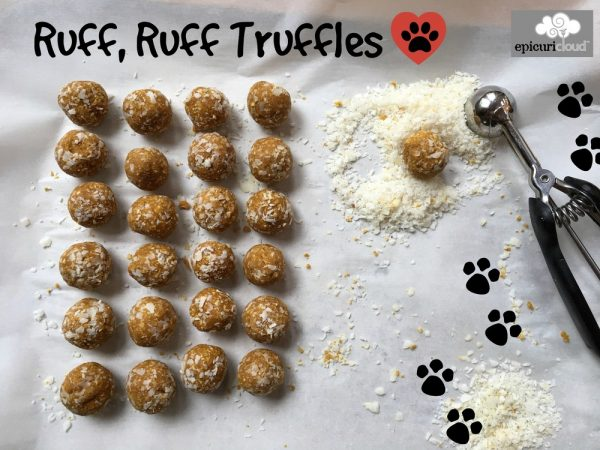 Ruff, Ruff Truffles: Pumpkin & Peanut Butter Dog Treats
