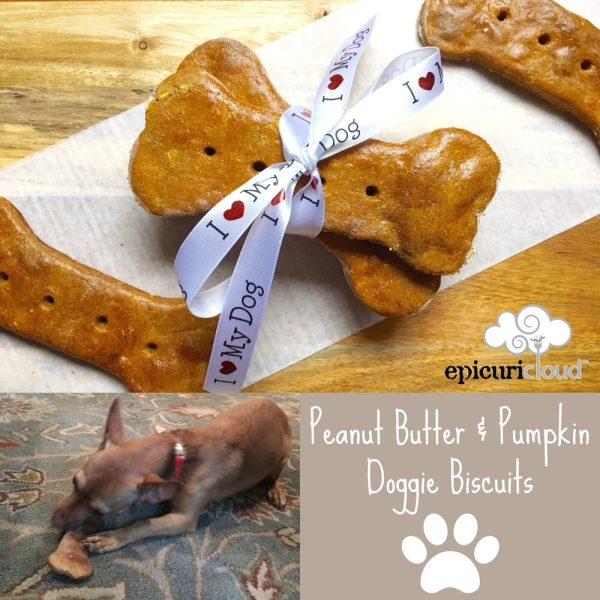 Peanut Butter and Pumpkin Doggie Biscuits