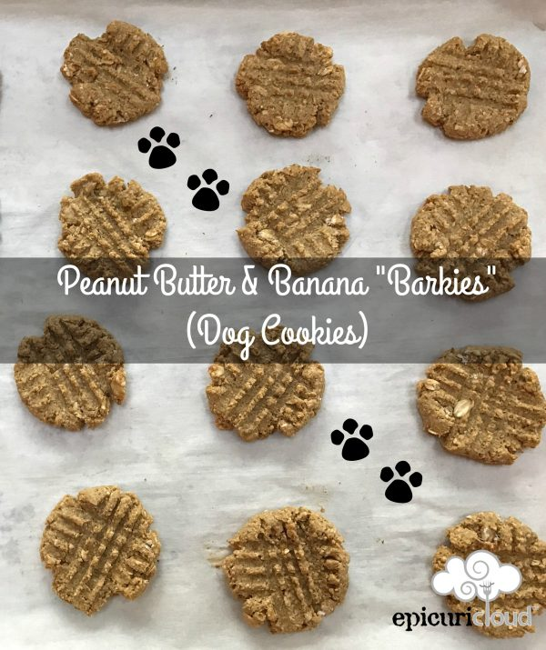 "Peanut Butter and Banana ""Barkies"" (Dog Cookies)"