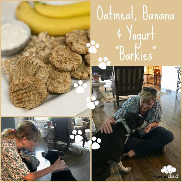 "Oatmeal, Banana and Yogurt ""Barkies"" (Dog Cookie)"