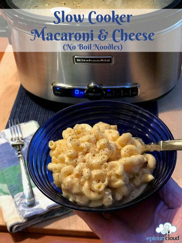 Slow Cooker Macaroni and Cheese (No Boil Pasta)
