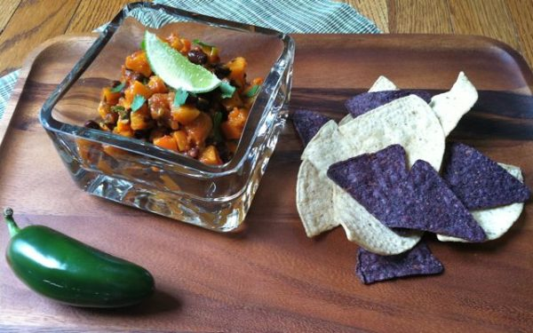 Warm Butternut Squash & Black Bean Salsa