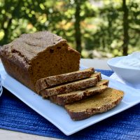 Pumpkin Bread with Whipped Ginger Cream Cheese Recipe