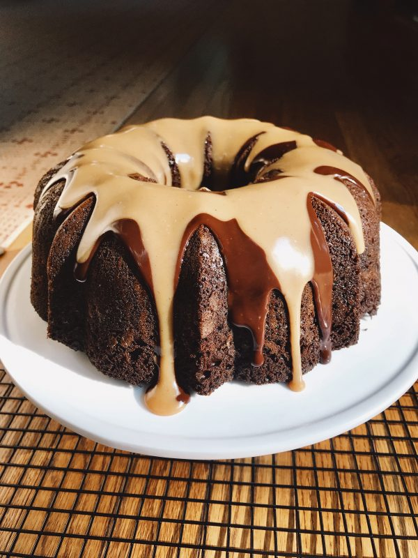 Peanut Butter Filled Chocolate Bundt Cake