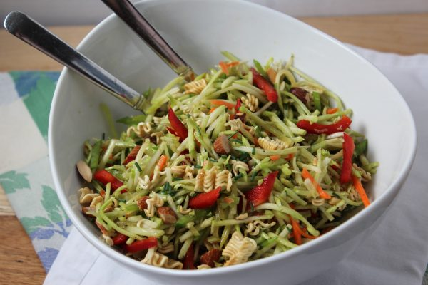 Broccoli Slaw with Sesame Soy Dressing