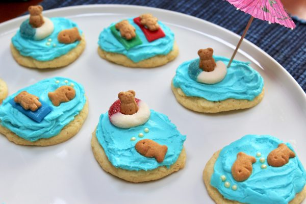 Summer Beach Bear Cookies