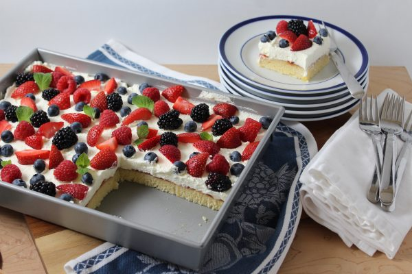 Berry Shortcake Sheet Cake