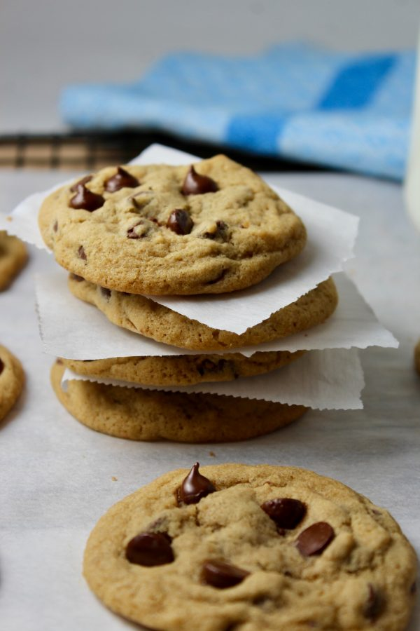 Perfectly Soft and Chewy Chocolate Chip Cookies