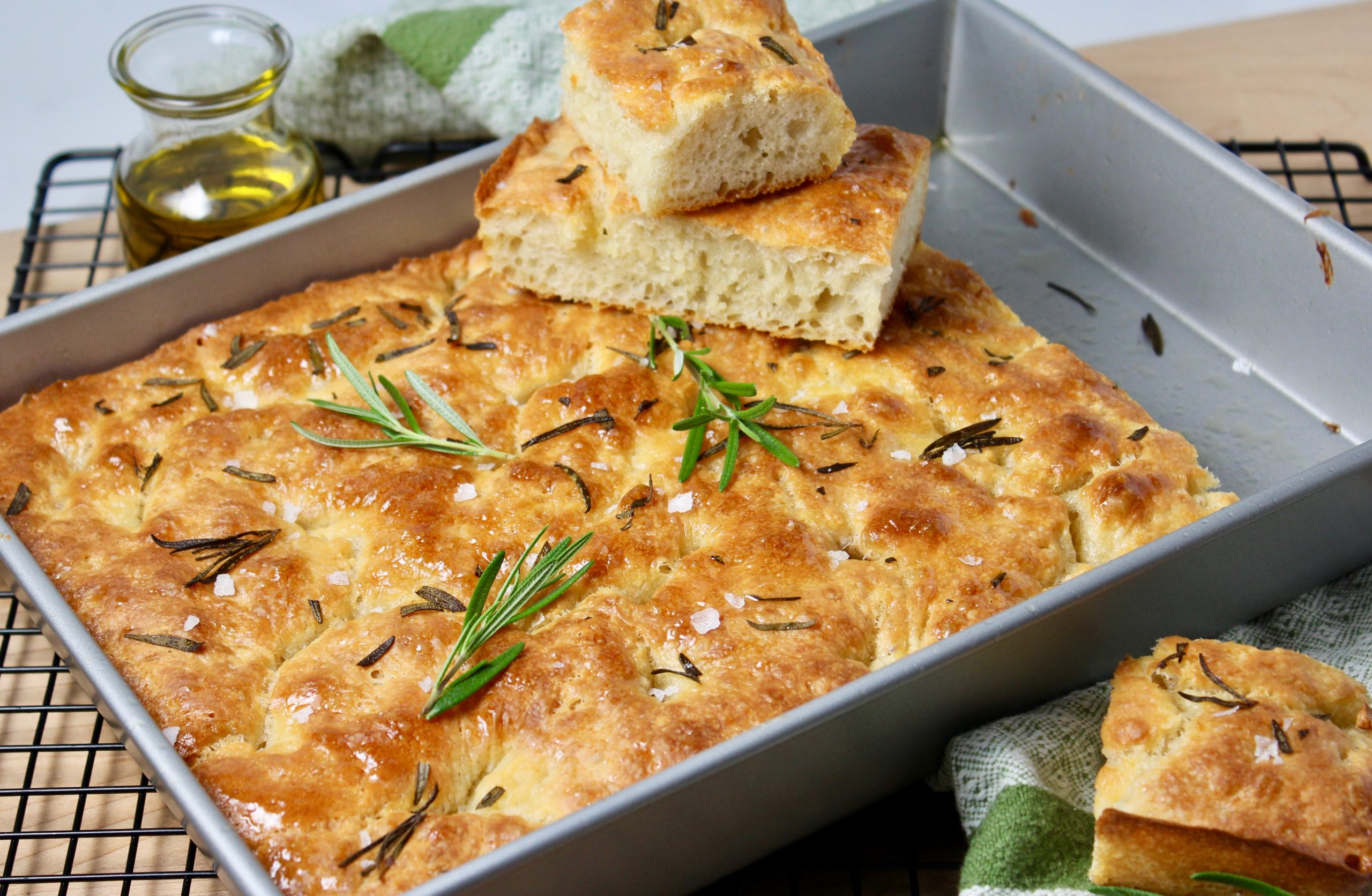 Easy Rosemary Focaccia Bread Epicuricloud Tina Verrelli
