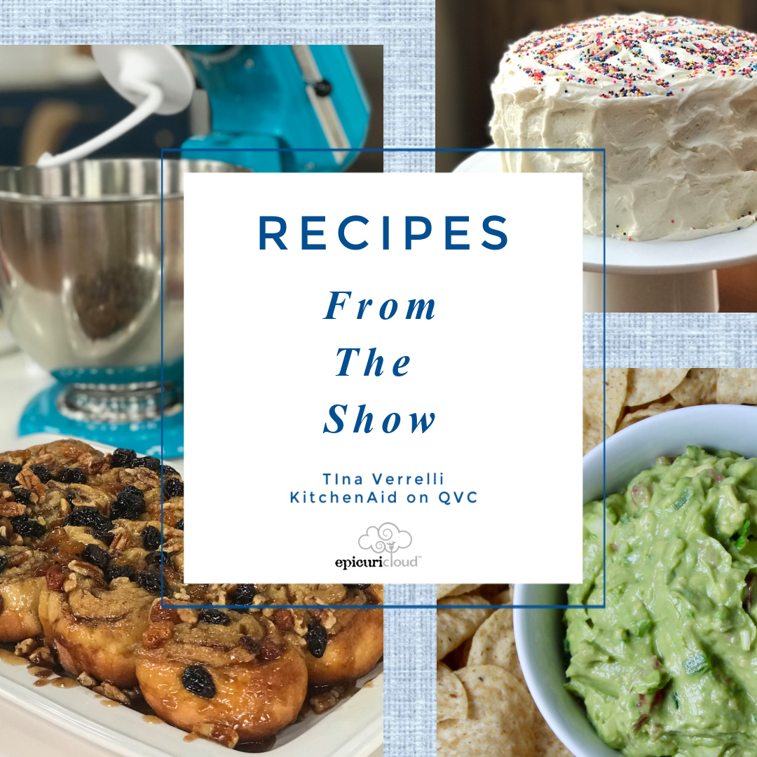 sticky buns, guacamole, layer cake in cover picture for a recipe index